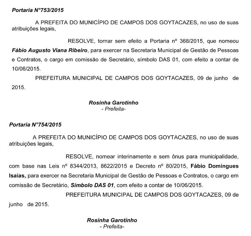 portaria Fábio Ribeiro