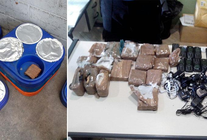 Drogas e celulares em quentinhas de internos de pres dio for Ministerio de seguridad telefonos internos